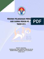 Buku Pedoman Penyelenggaraan Hari Sumpah Pemuda 85 2013