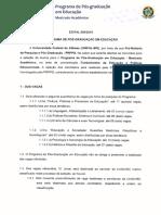 Edital de Seleção Nº 050-2016 PDF