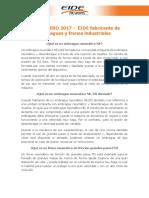 FAQS ENERO 2017 - EIDE Fabricante de Embragues y Frenos Industriales