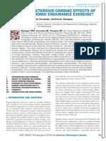 Cardiac Physiology in Acute and Chronic Endurance Excercise