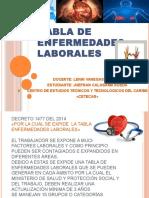 Tabla de Enfermedades Laborales Jhefran Carlosama Rueda