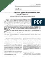 Cerebral Vasoreactivity is Influenced by Prandial State