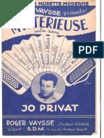 Sheets_Jo Privat - Mystérieuse (Valse Swing)