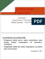 Open Pan Solar Evaporator