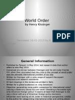 141220 Henry Kissinger - World Order