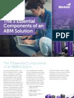 3 Essential Components ABM Solution Marketo