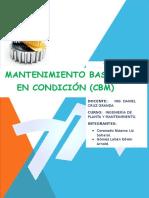 MANTENIMIENTO BASADO EN CONDICIÓN (CBM)