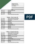 ae schedule