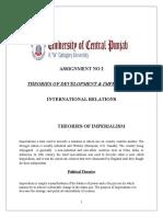 Theories of Imperialism Development