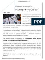 Accounting for Amalgamation(as Per as-14)