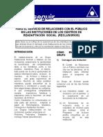 GUIA Para El Servicio en Instituciones de readaptación social