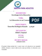 Trabajo Final Sociologia de La Educacion Esmerlin Rodriguez