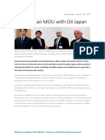 Mohammad Abdul Jalil Al Blouki - Emirated Business Group - MOU With OJI