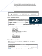 Instructivo Llenado de Formulario Usuarios