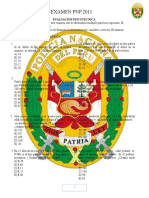 Psicotecnica PNP 2011