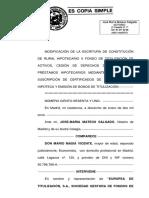 Titulización Rural Hipotecario X FTA