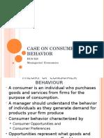 Case on Consumer Behavior