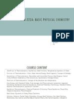Physical Chemistry Slide Set