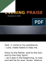 Evening Praise