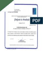 certificado calibração multigas