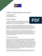 Leasing- El Outsourcing Del Activo Fijo