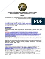 Minutes of the Fauquier County BOS Regular Meeting 01-14-2016
