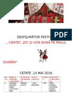 Desfşurător Festival