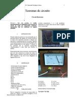 Informe 8 Teoremas de Circuito
