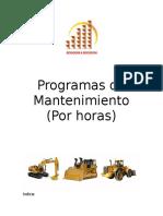 Programas de mantenimiento referencial