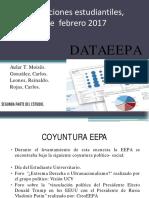 Presentación y Publicación de DATA EEPA. Parte II