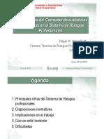 Cc240 2010 Presentacion Implicaciones Consumo Spa en Sistema de Riesgos Profesionales
