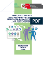 Protocolo de Aplicación de Fichas de Monitoreo