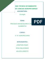 Ciclos Biogeoquímicos TRABAJO WILSON