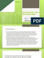 #5 Bioarquitectura y Bioclimatismo
