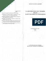 Jean Claude Larchet La Divinisation de Lhomme Selon Saint Maxime Le Confesseur 1996