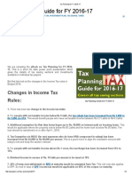 Tax Planning for FY 2016-17