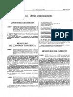 Orden de 1 de Octubre de 1992, Uniformidad y Distintivos Del Cuerpo Nacional de Policía