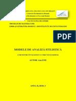 Modele de Analiza Stilistica - A. Ene