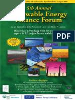 Renewable Energy Finance Forum - HALO ENERGY - London
