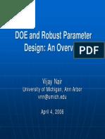 DOE and Robust Parameter Design