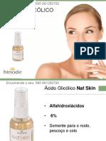 Instruções de Uso Ácido Glicólico Hinode