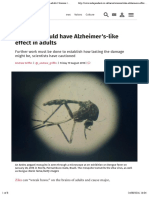 Zika virus could have Alzheimer's-like effect in adults | Science | News | The Independent