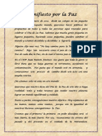 Manifiesto Por La Paz 2