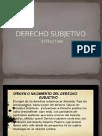Estructura Derecho Subjetivo
