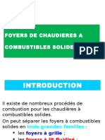 Foyers de Chaudieres a Combustibles Solides