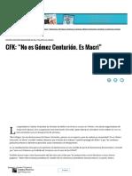 """CFK_ """"No Es Gómez Centurión. Es Macri"""" _ Página12 _ La Otra Mirada"""