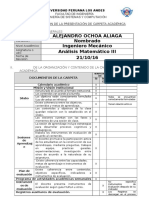 Ficha de Revisión de La Presentación de Carpeta Academica