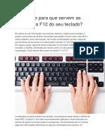 Você sabe para que servem as teclas F1 a F12 do seu teclado.docx