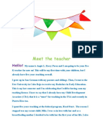 meet the teacher