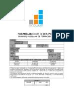 GROWUP   FORMULARIOS   FORMULARIO DE INSCRIPCION